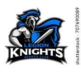 legion knight mascot symbol and ...   Shutterstock .eps vector #707690089