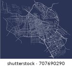 vector map of the city of... | Shutterstock .eps vector #707690290