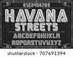 font handwritten vector... | Shutterstock .eps vector #707691394
