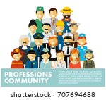 people occupation characters... | Shutterstock .eps vector #707694688