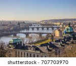 Prague Panorama With Vltava...