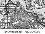 vector map of the city of... | Shutterstock .eps vector #707709193