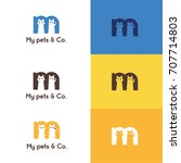 Pet Logo With Letter M   Vecto...