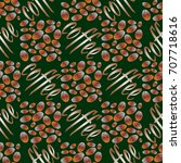coffee bean seamless pattern...   Shutterstock .eps vector #707718616