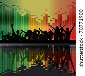 vector party peoples | Shutterstock .eps vector #70771900
