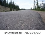 low angle asphalt mountain road ... | Shutterstock . vector #707724730