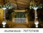 wedding venue aisle with... | Shutterstock . vector #707727658
