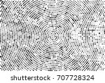 halftone radial black and white.... | Shutterstock . vector #707728324