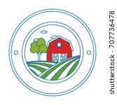 stable building seal stamp   Shutterstock .eps vector #707736478