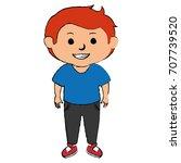 cute little boy character | Shutterstock .eps vector #707739520