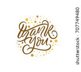 thank you | Shutterstock .eps vector #707749480