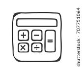 calculator icon vector sign...