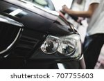 car detailing   hands with...   Shutterstock . vector #707755603