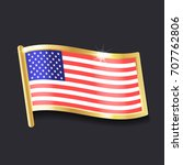 american flag in the form of an ...   Shutterstock .eps vector #707762806