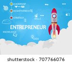 entrepreneur design and concept ... | Shutterstock .eps vector #707766076