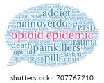 opioid epidemic word cloud on a ...   Shutterstock .eps vector #707767210