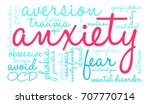 anxiety word cloud on a white...   Shutterstock .eps vector #707770714