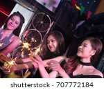 group of young asian woman... | Shutterstock . vector #707772184
