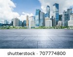 empty tiled floor front of hong ... | Shutterstock . vector #707774800