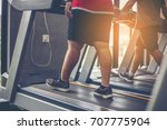 gym shot   people walking on... | Shutterstock . vector #707775904