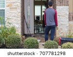 house flooded after hurricane...   Shutterstock . vector #707781298