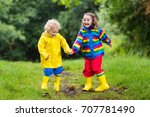 little boy and girl play in... | Shutterstock . vector #707781490
