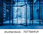 modern entrance with revolving... | Shutterstock . vector #707784919