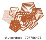 shape of pentagon  abstract... | Shutterstock .eps vector #707786473