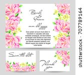 vintage delicate invitation... | Shutterstock . vector #707789164