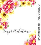 romantic invitation. wedding ... | Shutterstock . vector #707790070