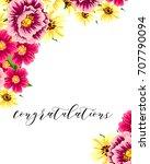 romantic invitation. wedding ... | Shutterstock . vector #707790094