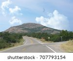 paved road to mt scott at the... | Shutterstock . vector #707793154
