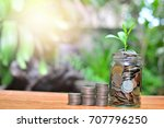 coins saving money growth to... | Shutterstock . vector #707796250