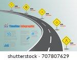 business road map timeline...   Shutterstock .eps vector #707807629