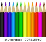 colour pencils rainbow style