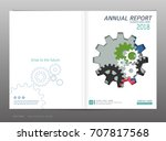 cover design annual report ... | Shutterstock .eps vector #707817568