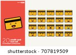 Set Of Cute Credit Card Emoji...