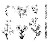 collection of hand drawn... | Shutterstock .eps vector #707820628