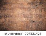 old grunge dark textured wooden ... | Shutterstock . vector #707821429