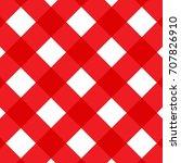 vector gingham seamless pattern ... | Shutterstock .eps vector #707826910