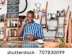 smiling young african... | Shutterstock . vector #707830099