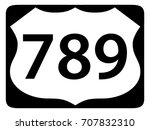 us route shield with road... | Shutterstock .eps vector #707832310