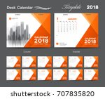 set desk calendar 2018 template ... | Shutterstock .eps vector #707835820