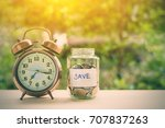 saving money for sustainable... | Shutterstock . vector #707837263