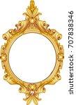 antique golden frame isolated... | Shutterstock .eps vector #707838346