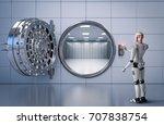 3d rendering humanoid robot... | Shutterstock . vector #707838754