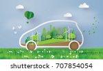 concept of environmentally... | Shutterstock .eps vector #707854054