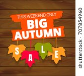 big autumn sale offer  banner... | Shutterstock .eps vector #707854960