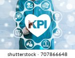 kpi   key performance indicator ... | Shutterstock . vector #707866648
