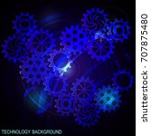 abstract futuristic digital...   Shutterstock .eps vector #707875480